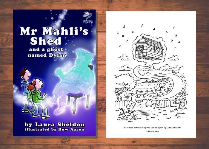 Mr Mahli's Shed and a ghost named Dylan: Colouring Sheets