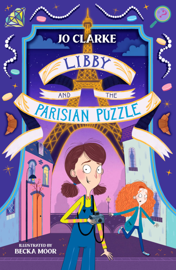 Libby and the Parisian Puzzle cover - illustrated by Becka Moor